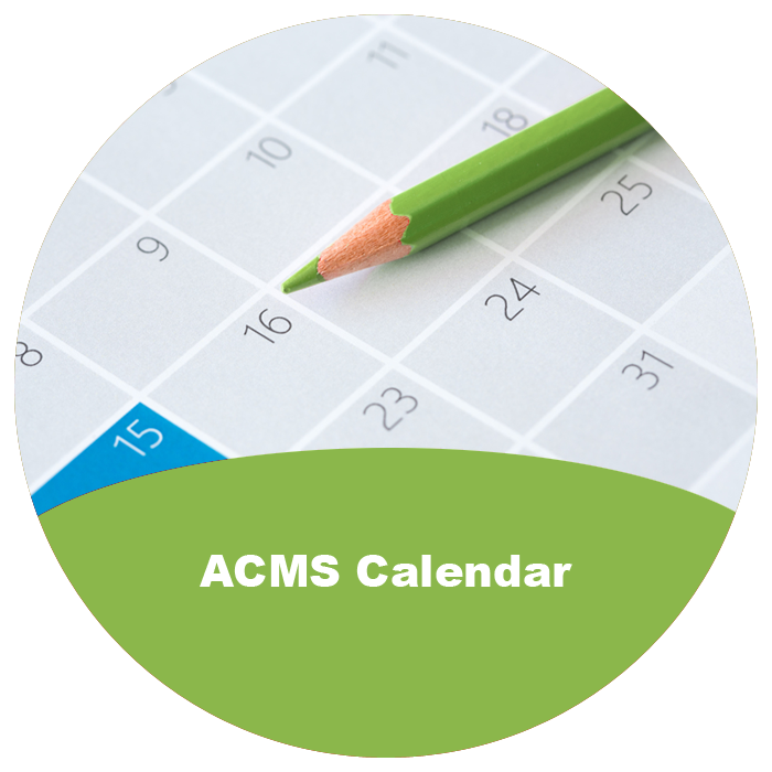 ACMS Calendar of Events