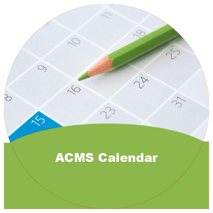 ACMS Calendar of Events