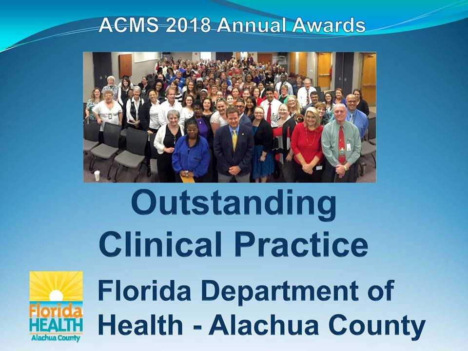 Outstanding Clinical Practice award - Florida Department of Health-fdh